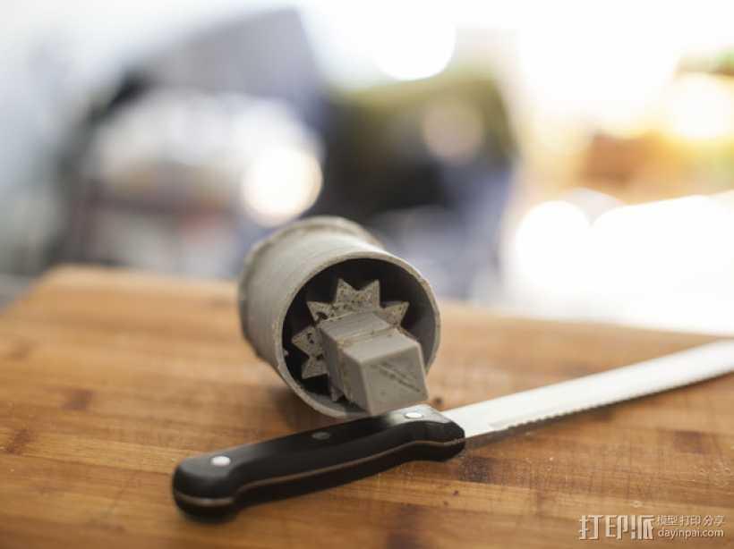简易咖啡豆捣碎机 3D打印模型渲染图
