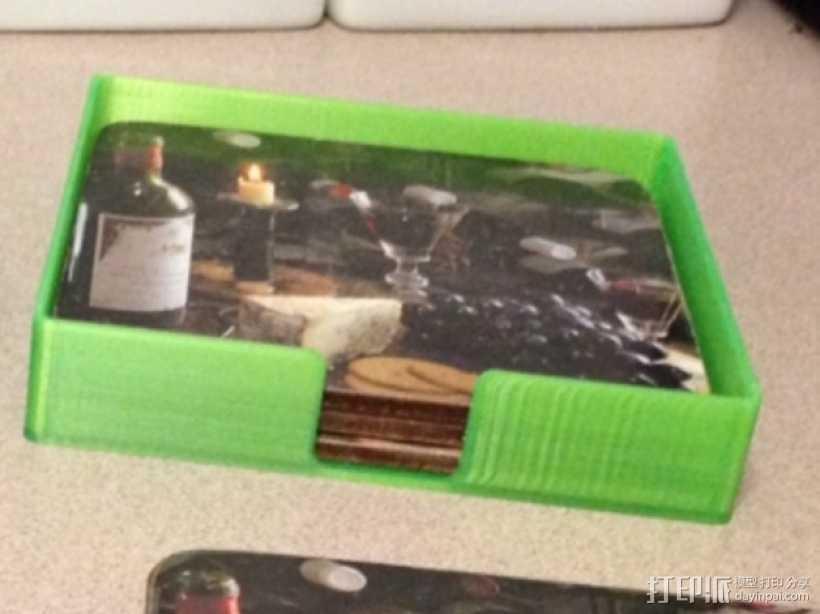 迷你杯垫收纳盒 3D打印模型渲染图