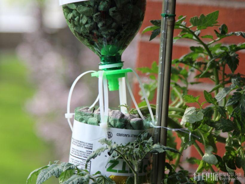 水培系统:塑料瓶制浇水装置 3D打印模型渲染图