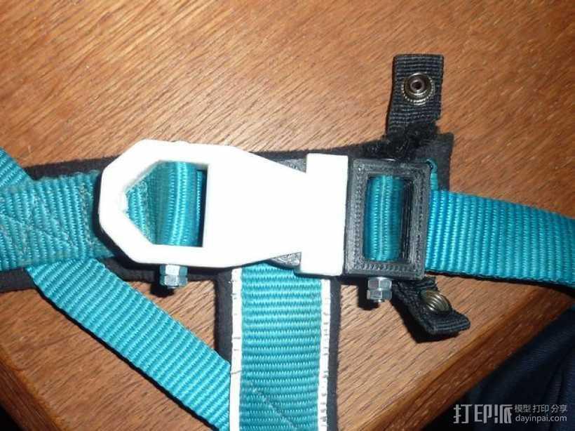 背包带扣 3D打印模型渲染图