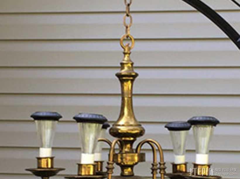 劳氏太阳能枝形吊灯电灯泡配适器 3D打印模型渲染图