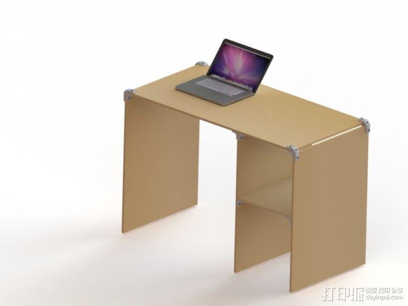 模块化桌角 3D打印模型渲染图