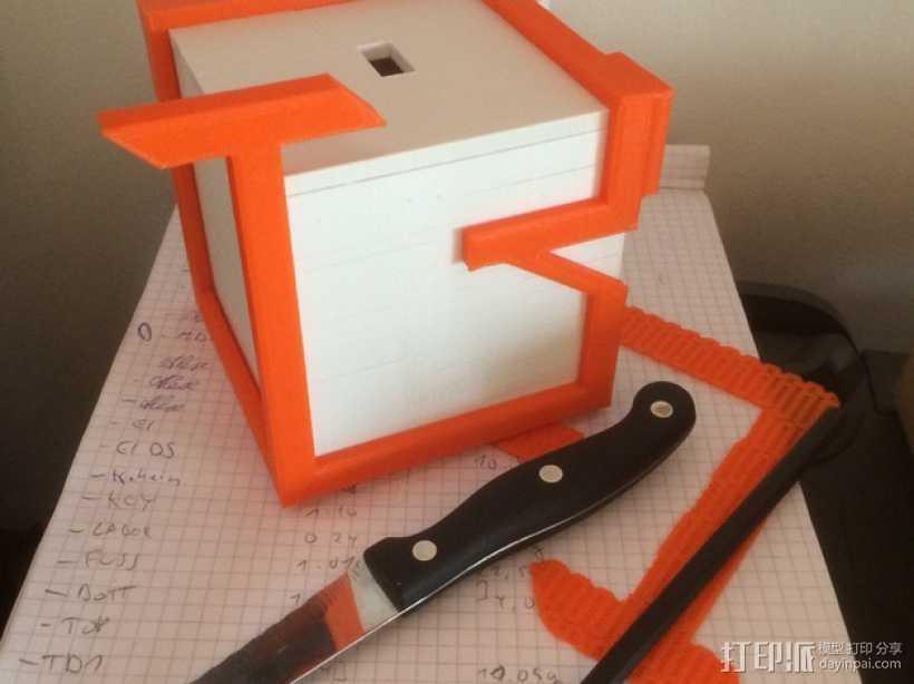 迷你捐赠箱 3D打印模型渲染图
