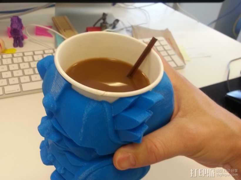 迷你Aztec纸杯杯托 3D打印模型渲染图