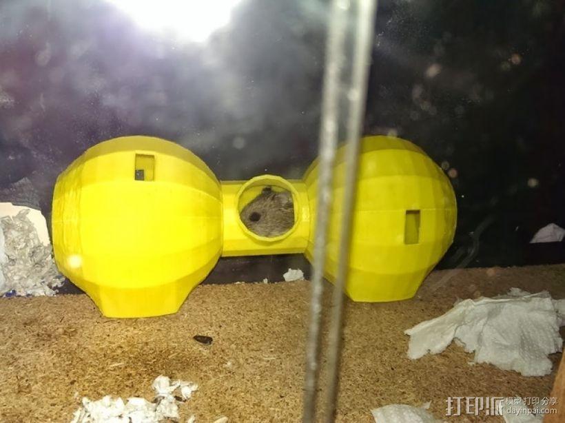 迷你圆形仓鼠小屋 3D打印模型渲染图