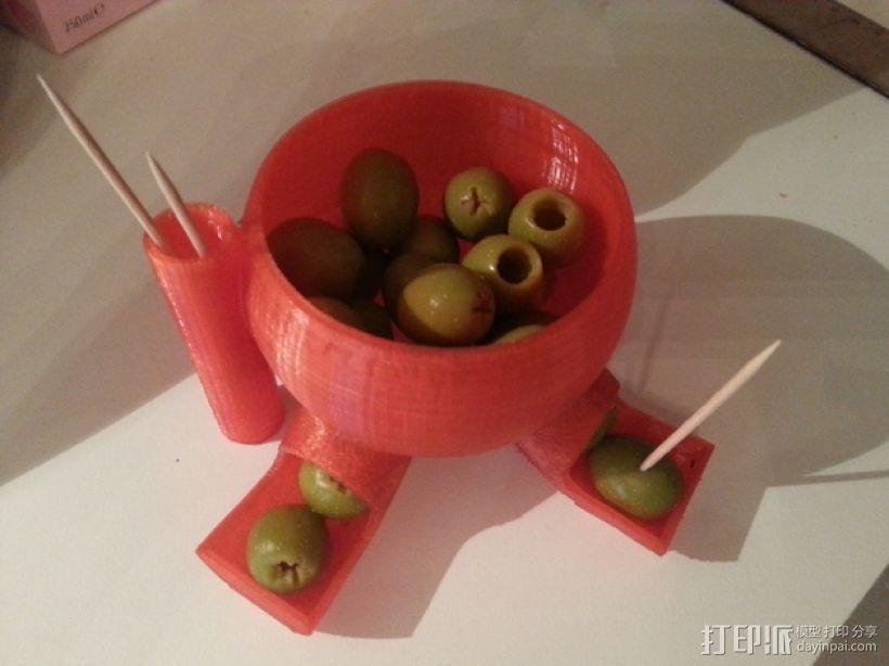 橄榄/糖果分发器 3D打印模型渲染图