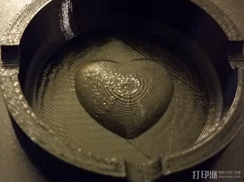 圆形烟灰缸 3D打印模型渲染图