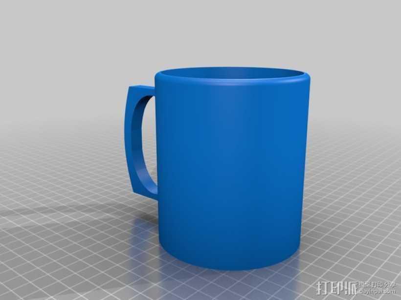 简易咖啡杯 3D打印模型渲染图