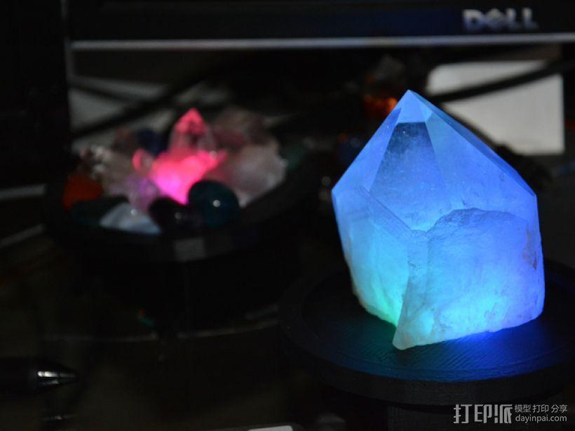 RGB水晶LED灯 3D打印模型渲染图