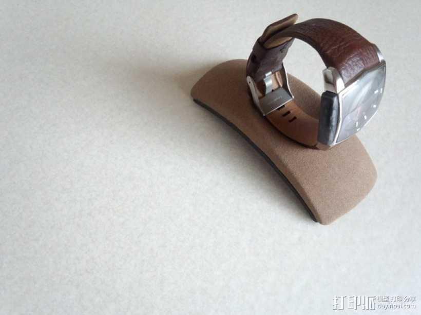 圆弧形小饰品底座 3D打印模型渲染图