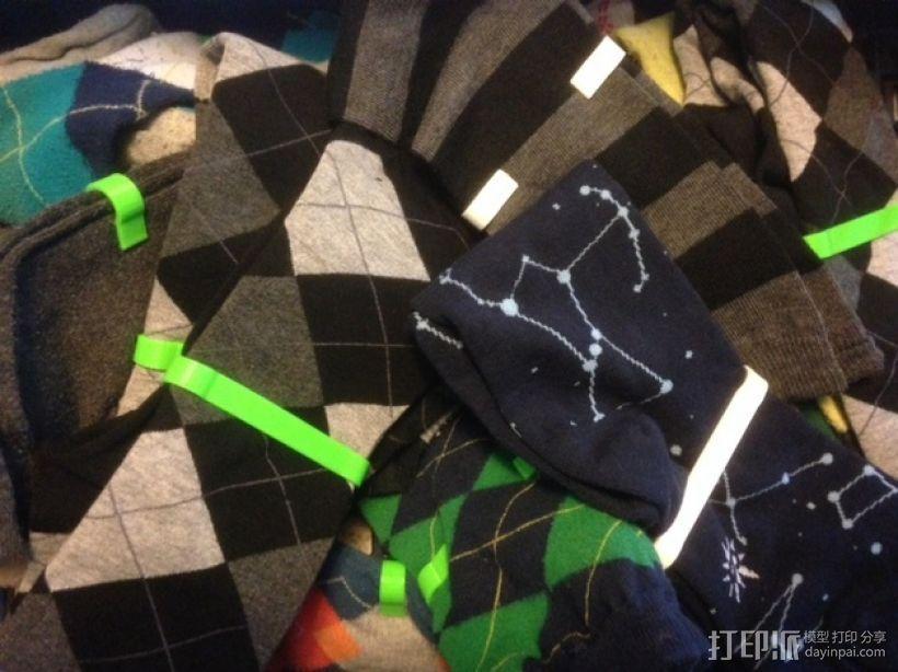 定制化袜子夹 3D打印模型渲染图