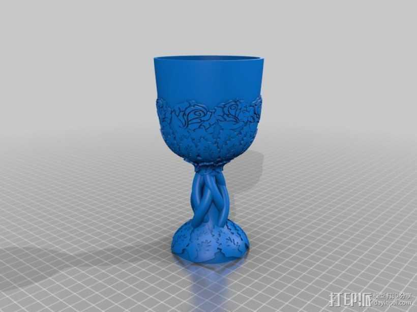 精美玫瑰酒杯 3D打印模型渲染图