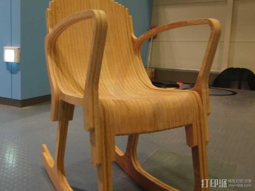 迷你摇椅 3D打印模型渲染图