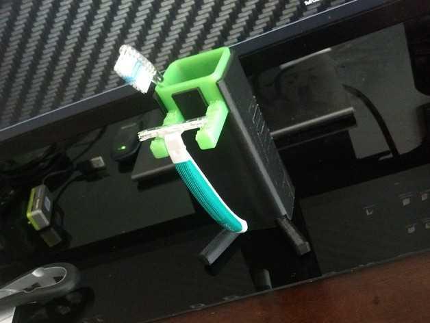牙刷架/剃须刀架 3D打印模型渲染图