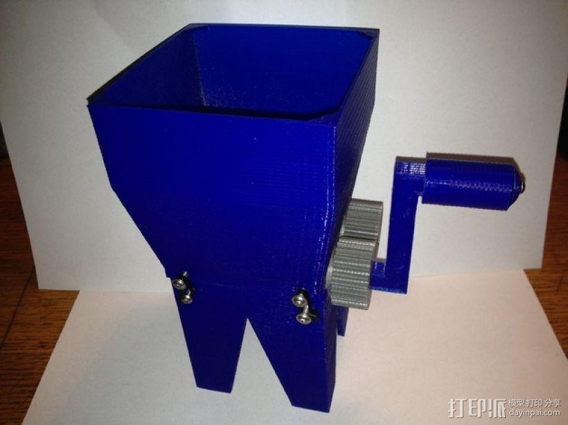 迷你玉米片压碎机 3D打印模型渲染图