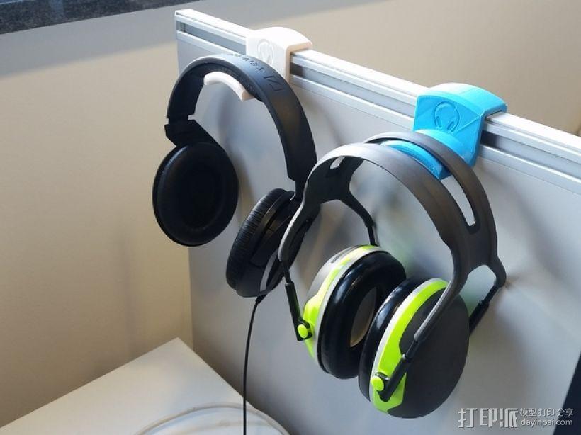 办公室耳机挂钩 3D打印模型渲染图