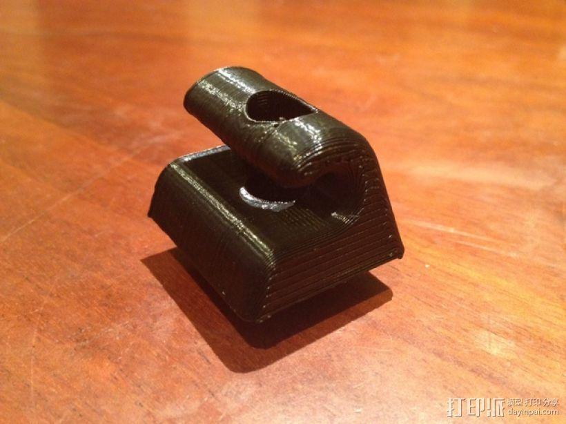 奔驰w126汽车遮阳板夹 3D打印模型渲染图