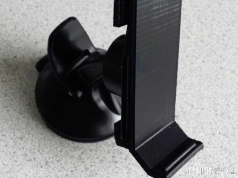Garmin Nuvi车载GPS定位系统底座 3D打印模型渲染图