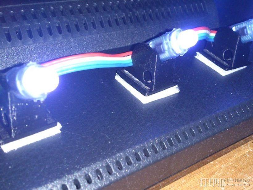 45度倾斜角的LED灯支架 3D打印模型渲染图