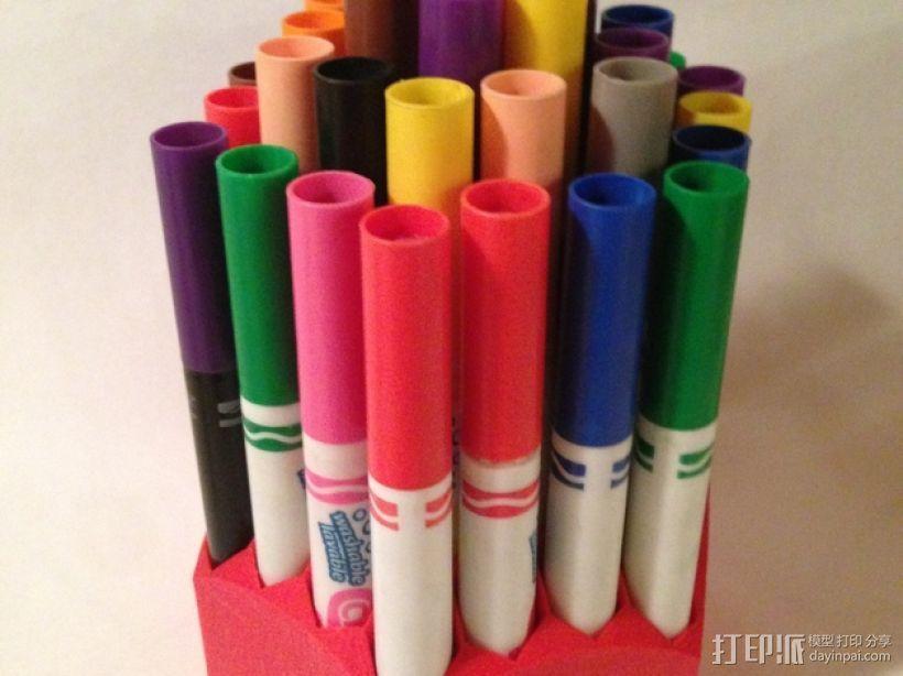 Crayola可水洗彩笔笔筒 3D打印模型渲染图