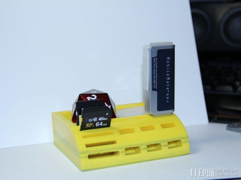 USB/SD卡架 3D打印模型渲染图