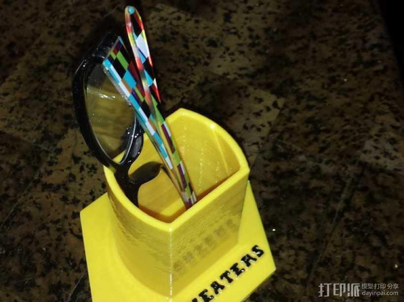 个性化笔筒 3D打印模型渲染图