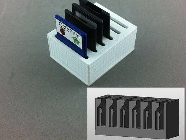 弹簧装置的SD卡卡槽 3D打印模型渲染图