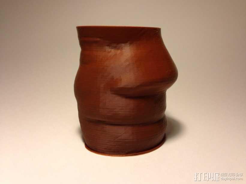 脸形花瓶 3D打印模型渲染图