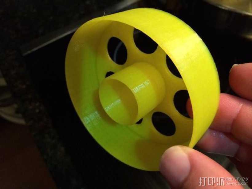 甜甜圈成型环 3D打印模型渲染图