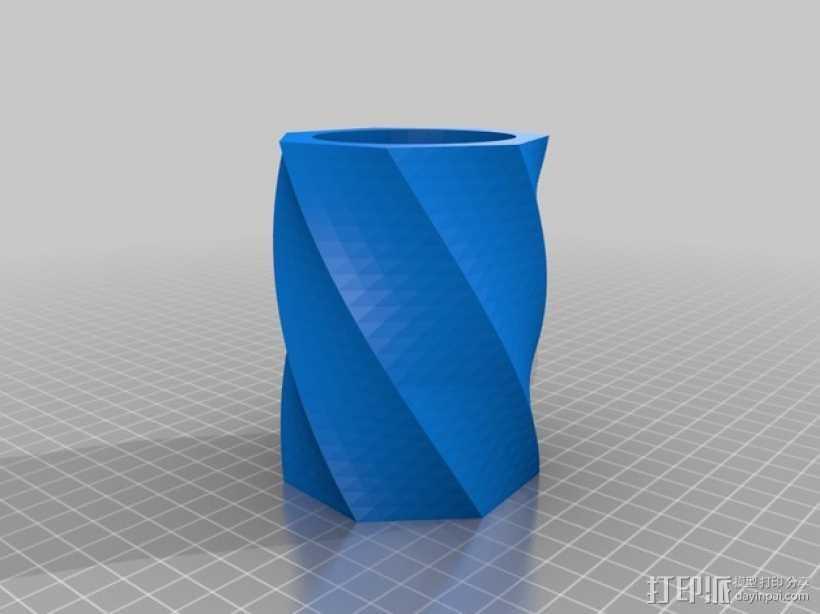极具曲线的塑料杯 3D打印模型渲染图