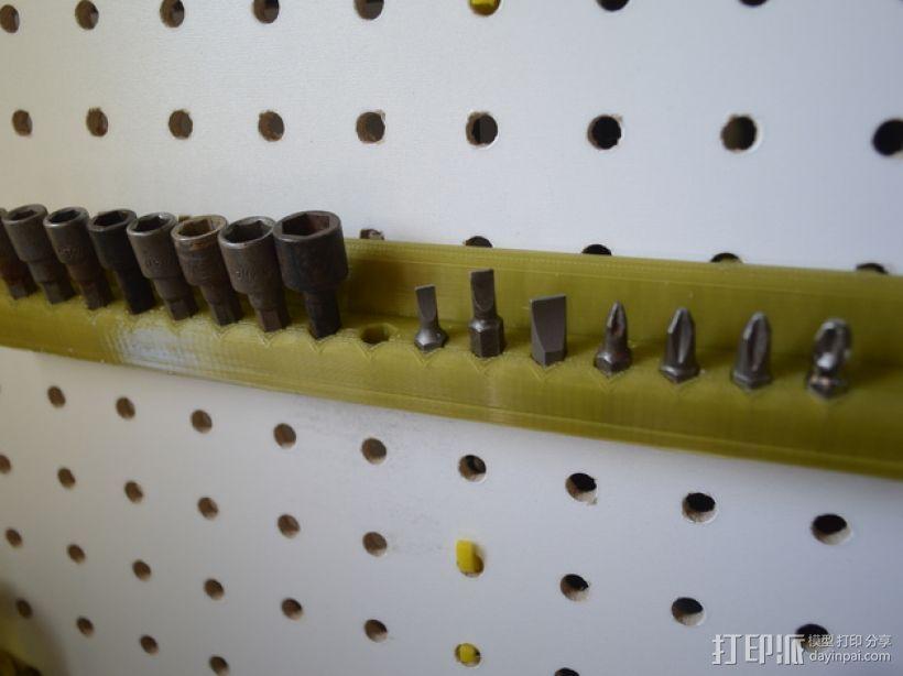 钉板电钻/电动螺丝刀零部件陈列架 3D打印模型渲染图