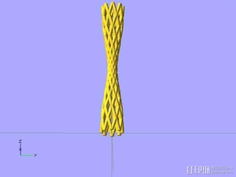 弯曲的烟管 3D打印模型渲染图