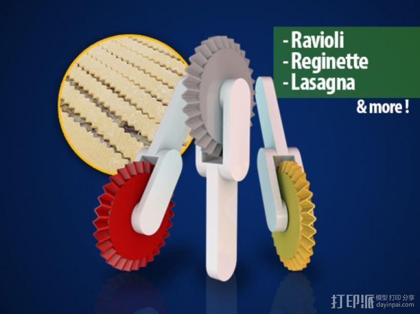 意大利面铣刀 3D打印模型渲染图