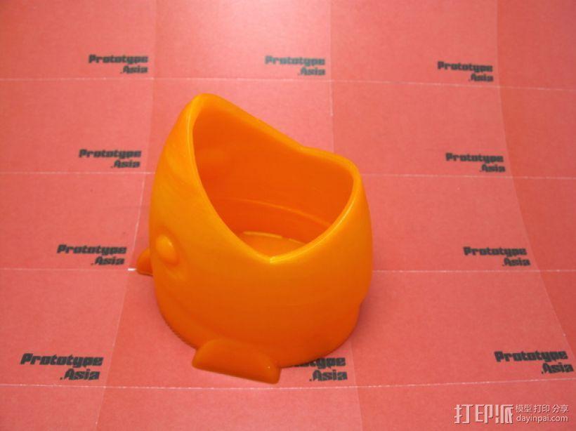 鱼形笔筒 3D打印模型渲染图