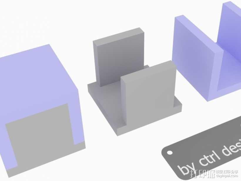 寿司方块 3D打印模型渲染图