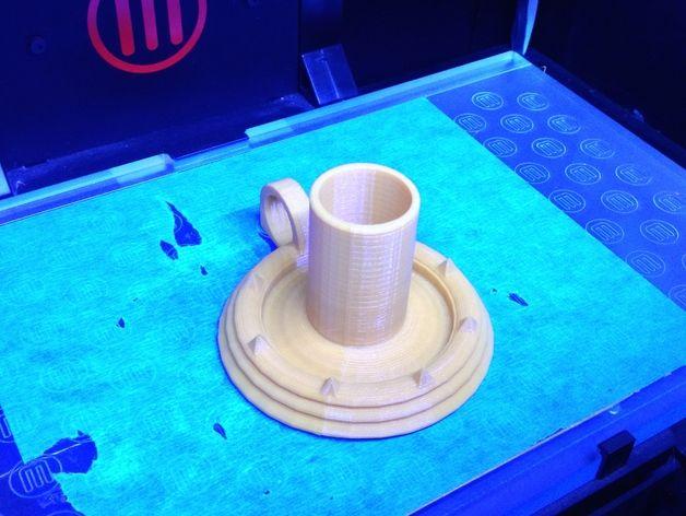 烛台 3D打印模型渲染图