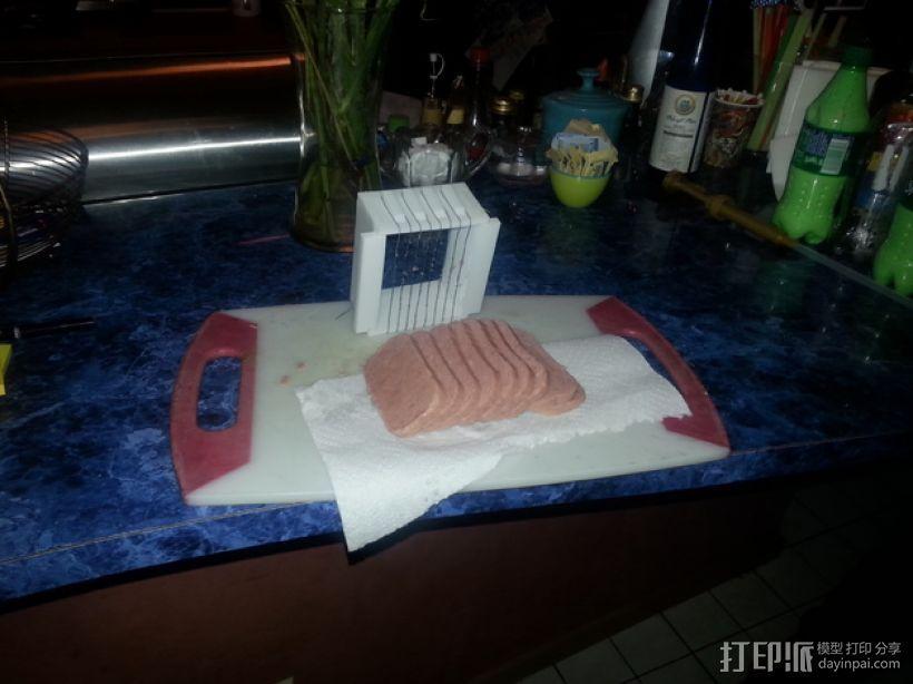 肉饭团切片器 3D打印模型渲染图
