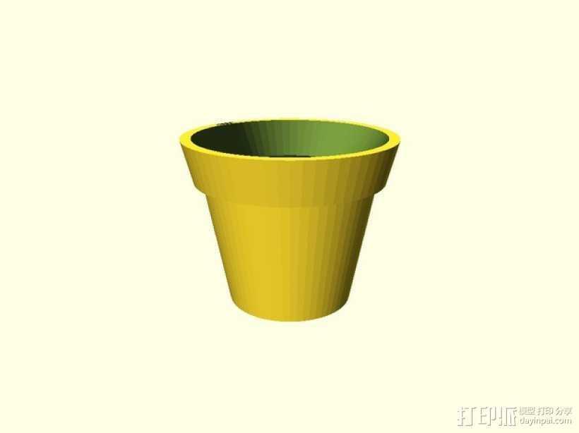 盆栽花盆 3D打印模型渲染图