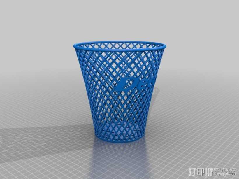 废纸篓 3D打印模型渲染图