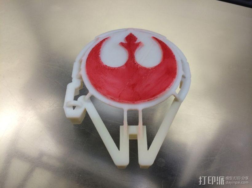 千年隼号 饼干模具 3D打印模型渲染图