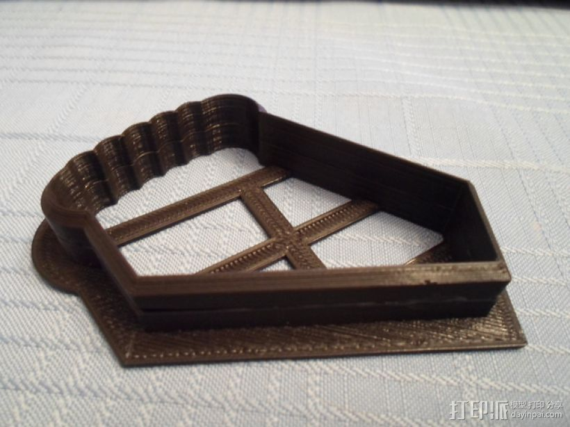 曲奇饼干 模子 3D打印模型渲染图