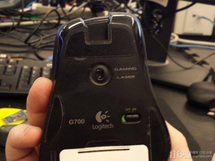 G700鼠标电池盖 3D打印模型渲染图