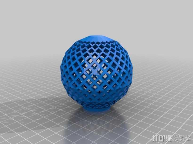 镂空球 3D打印模型渲染图