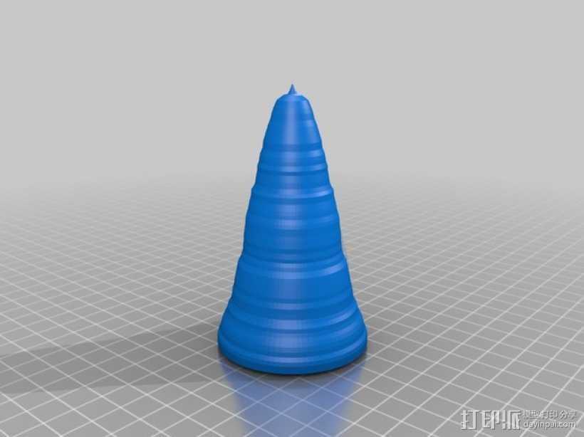 锥形冰淇淋模具 3D打印模型渲染图