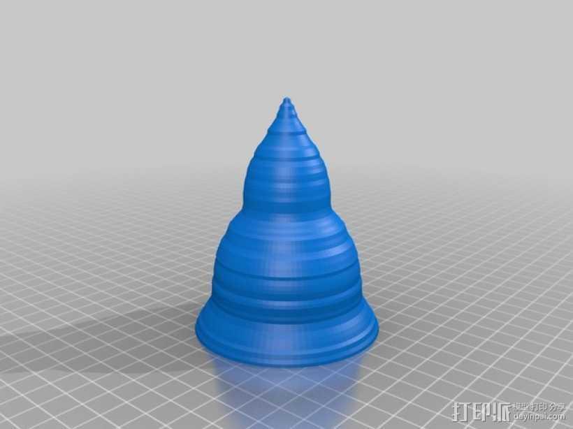 圆锥形冰淇淋托 3D打印模型渲染图