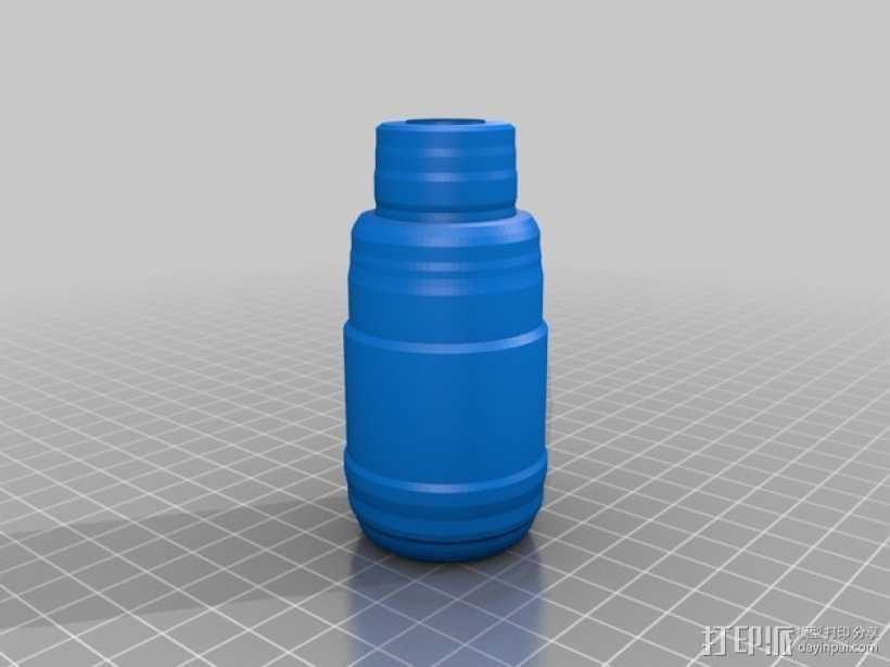 定制化瓶子 3D打印模型渲染图