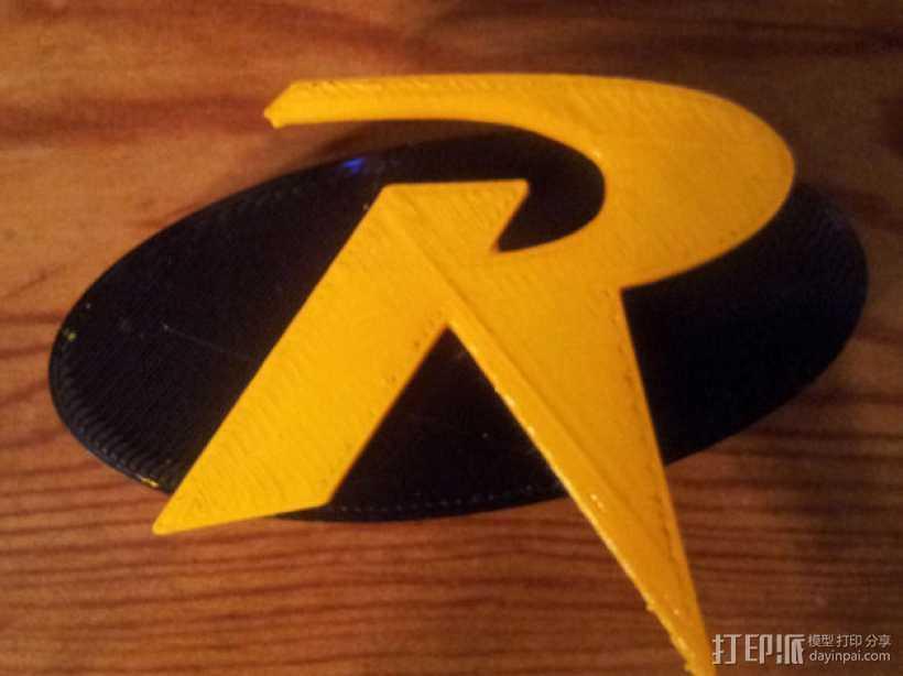罗宾汉传奇R字 冰箱贴 3D打印模型渲染图
