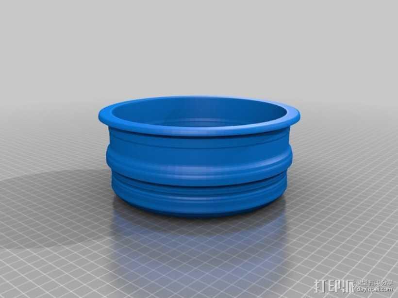 花盆4 3D打印模型渲染图