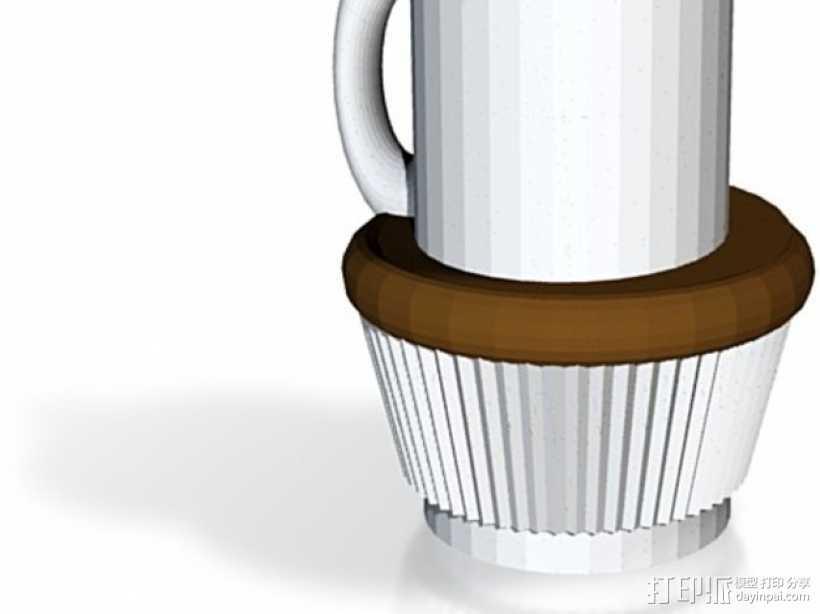 咖啡杯 蛋糕纸杯 3D打印模型渲染图