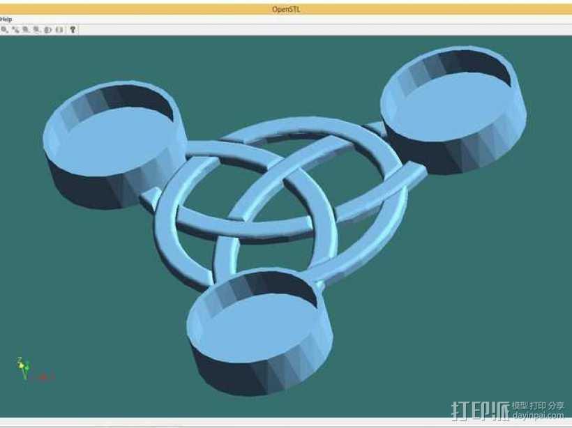 小圆蜡烛底座 3D打印模型渲染图